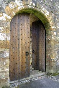 Door At Dollar Castle, Scotland