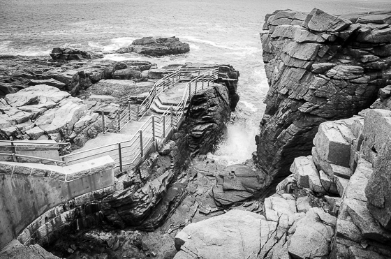 Rocky Coast in black and white