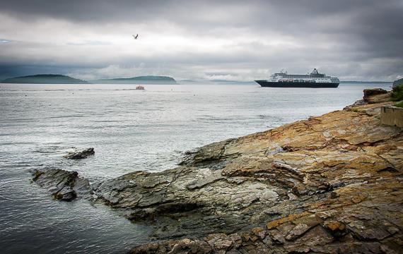 Cruise Ship in Bar Harbor, Maine