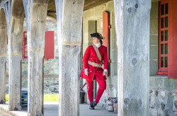 Leaning Soldier at Louisbourg