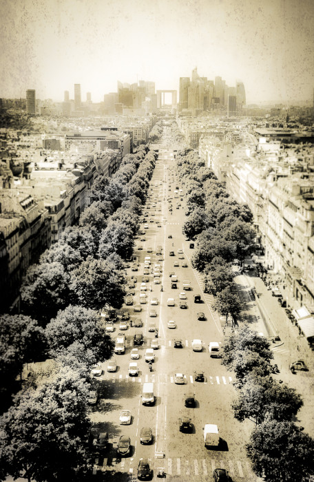 Avenue de la Grande Armee from the Arc de Triomphe