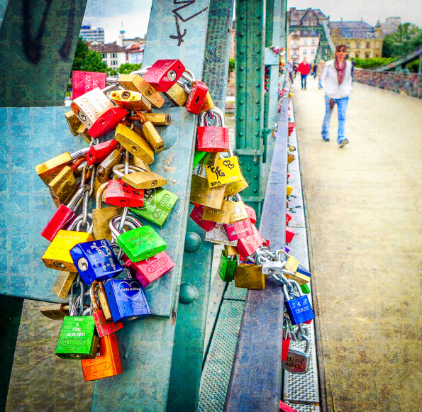 Locks on Bridge - Frankfurt, Germany