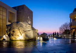 Getty Fountain at Dusk
