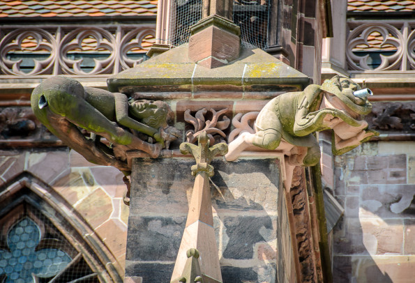 Freiburg cathedral gargoyles