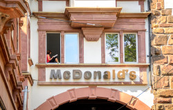 Freiburg Old Gate with McDonalds sign