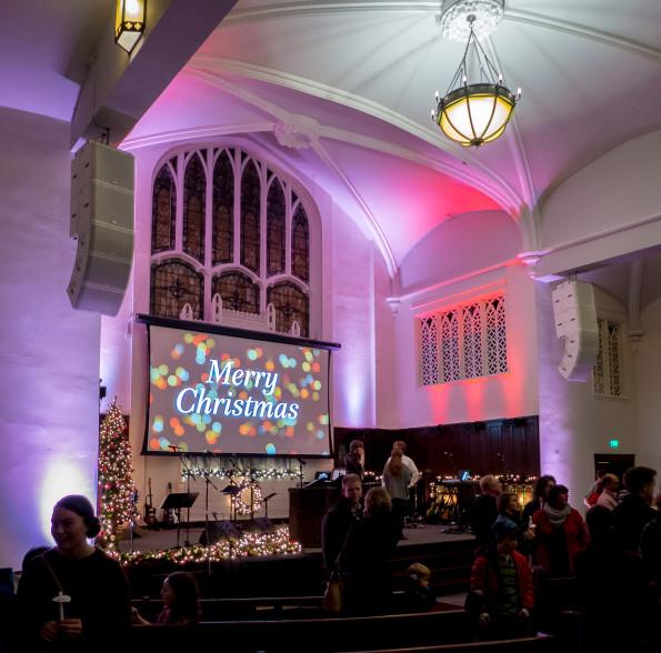 Christmas at church near hospital