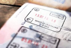 Forgetting grace - Madrid visa in passport